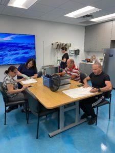 View of patients undergoing respective hand therapies